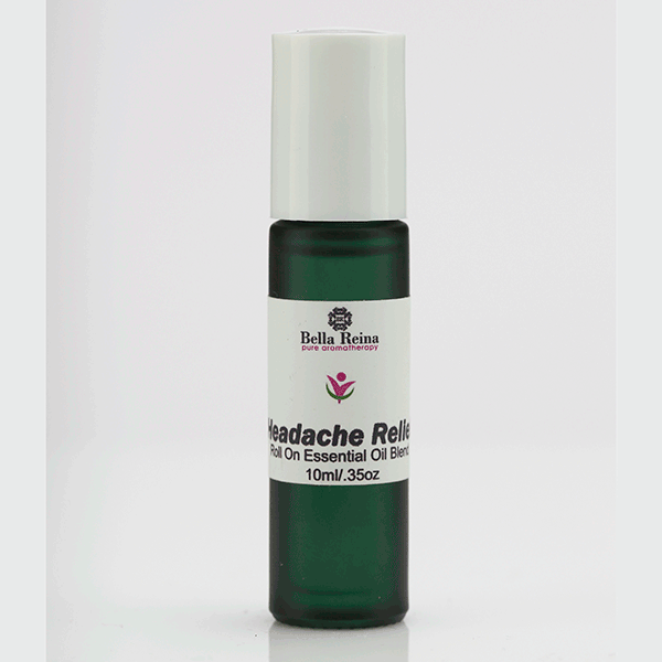 Essential Oil Headache Relief Roll On Blend by Bella Reina (.35oz)