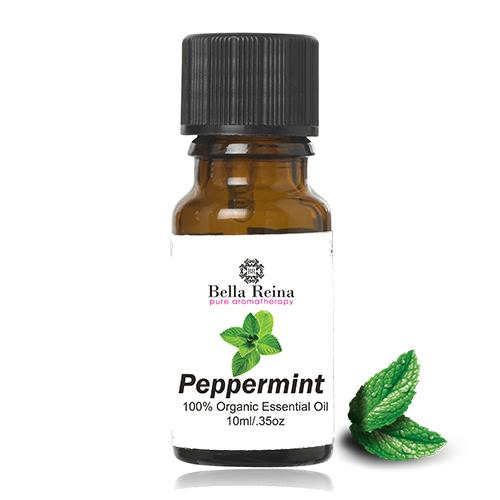 Organic Peppermint Essential Oil by Bella Reina (.35oz)