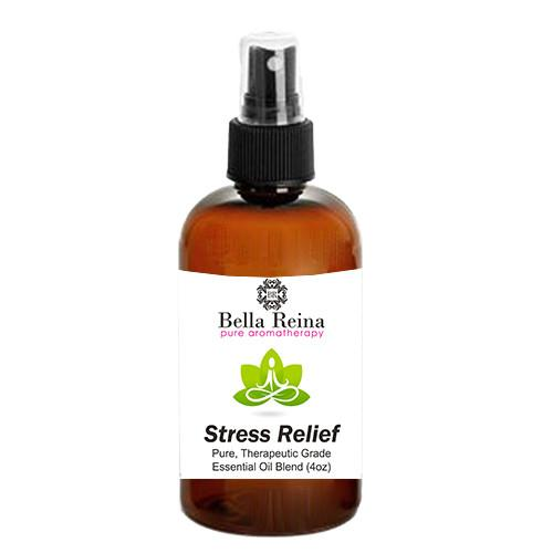 Stress Relief Aromatherapy Body Spray by Bella Reina (4oz)