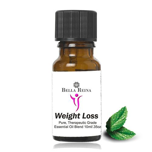 Weight Loss Therapeutic Grade Essential Oil Blend by Bella Reina (.35oz)