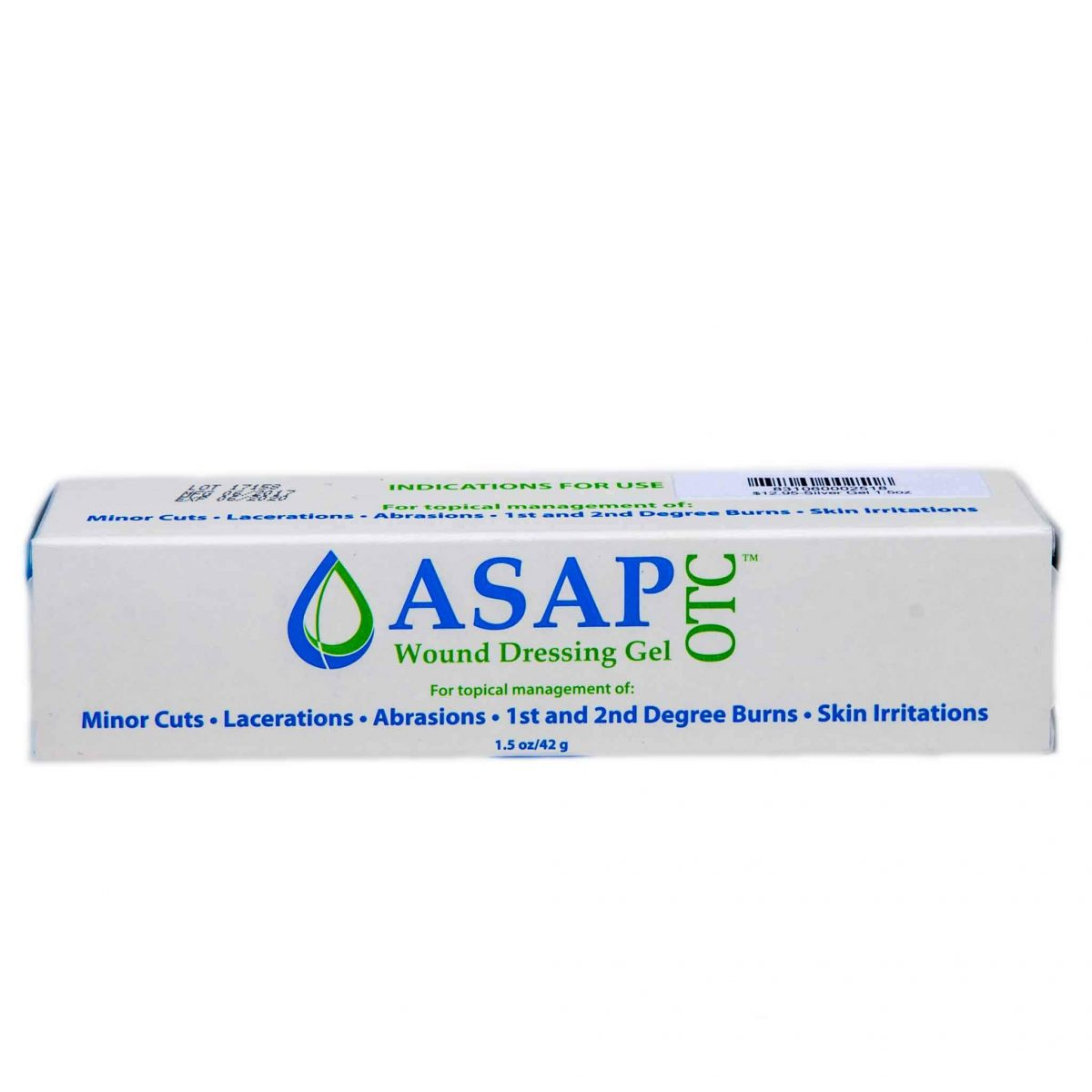 ASAP OTC Nano-Silver Wound Dressing Gel 1.5oz